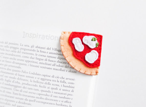 Pizza bookmark from Etsy