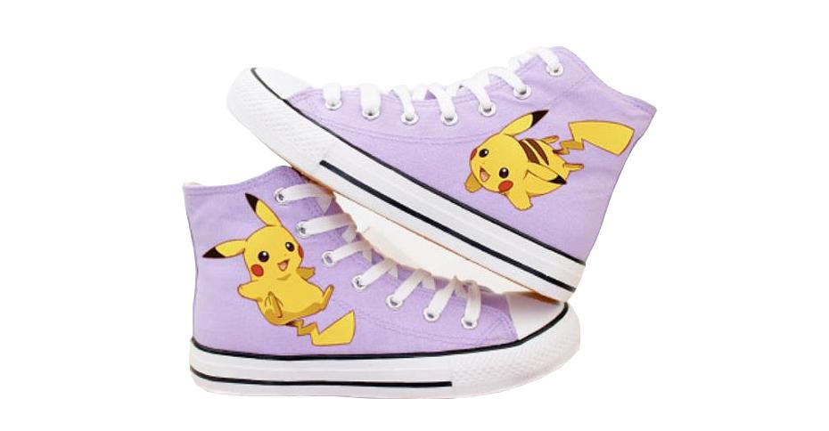Purple Pokémon Pikachu converse sneakers