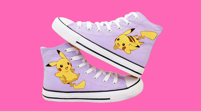 Purple Pokémon Pikachu converse sneakers