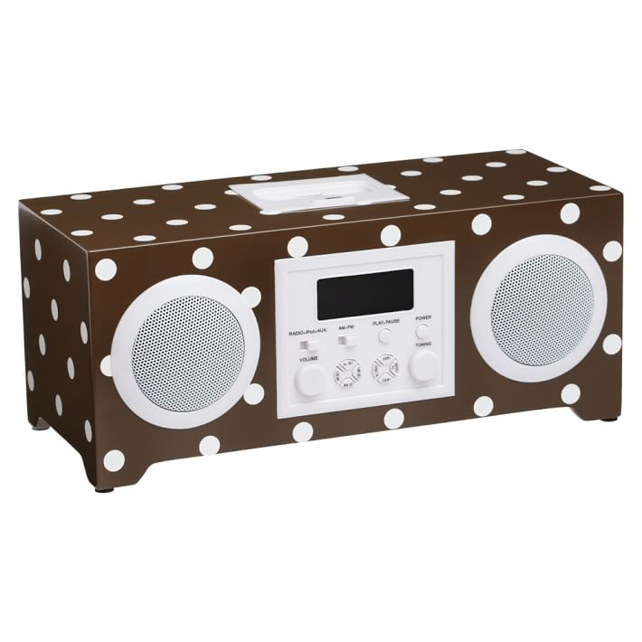 Alarm clock with built in speakers