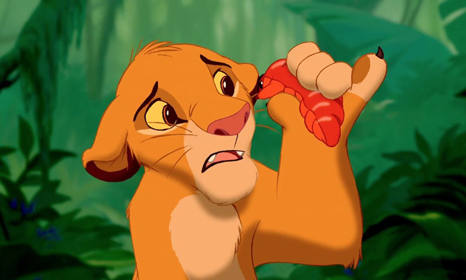 Simba about to eat a grub: Slimy yet satisfying