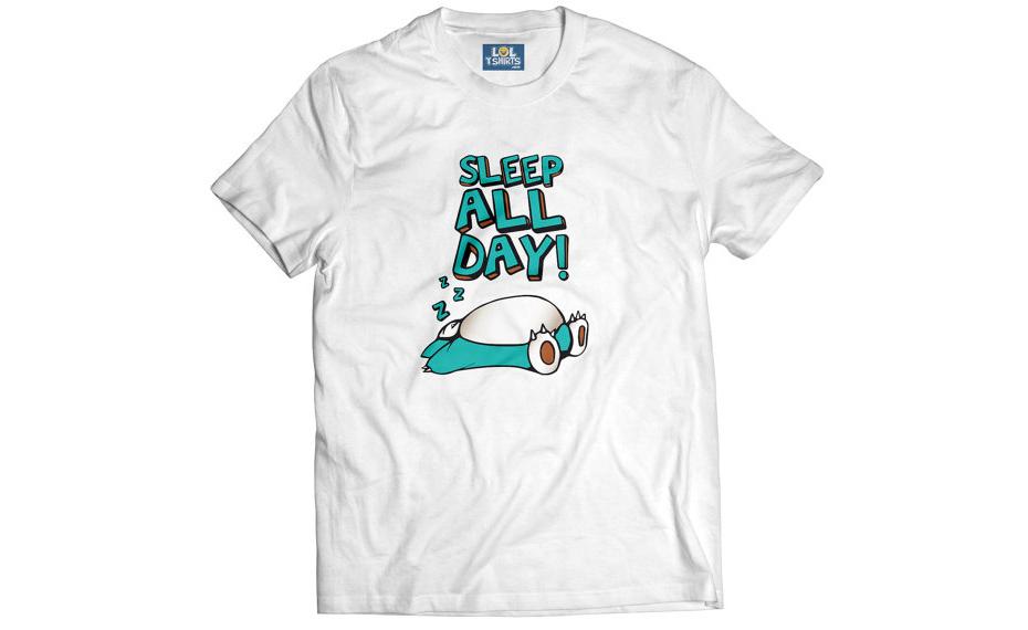 Pokémon Snorlax T-shirt: Sleep All Day