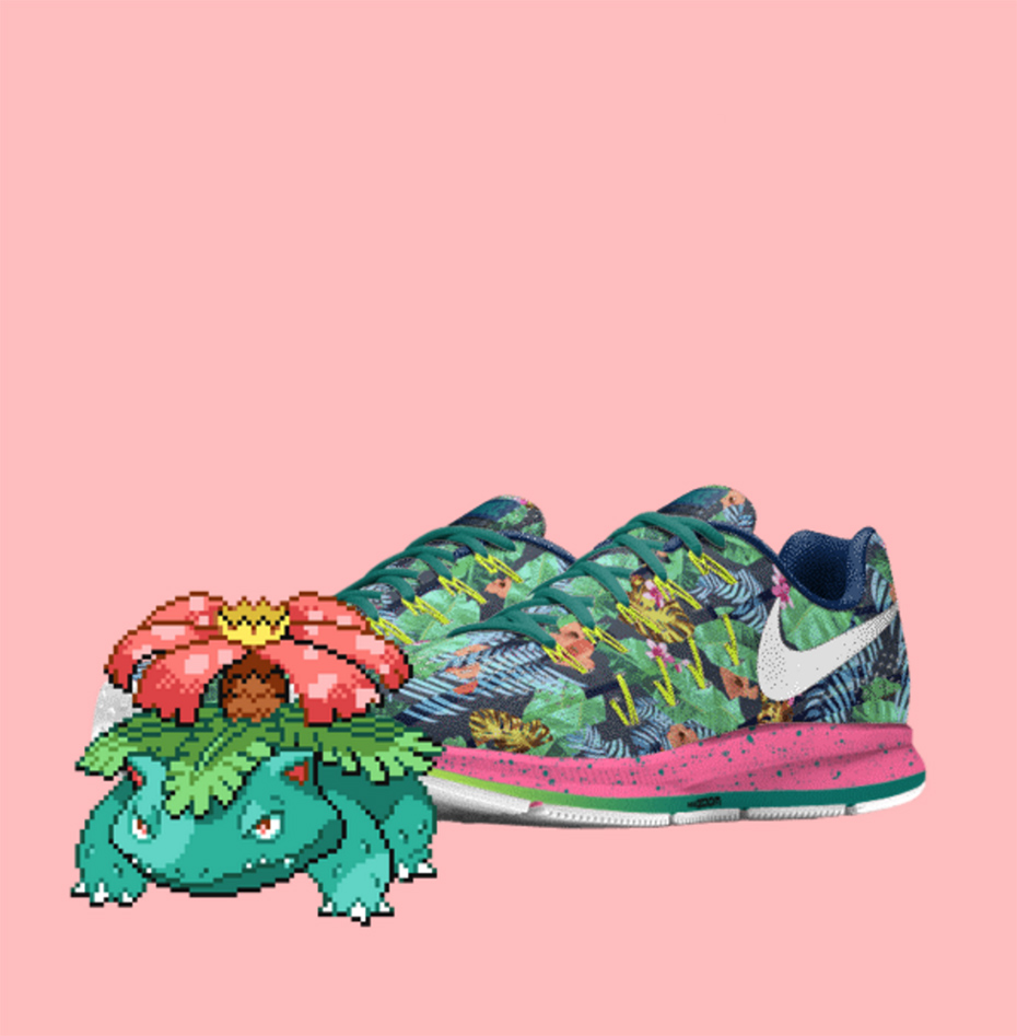 Venusaur PokeID Pokémon Nike shoes