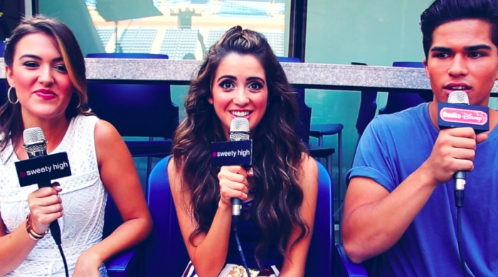 Laura Marano being interviewed by Sweety High and Radio Disney