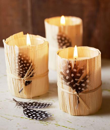 cozy candle holders