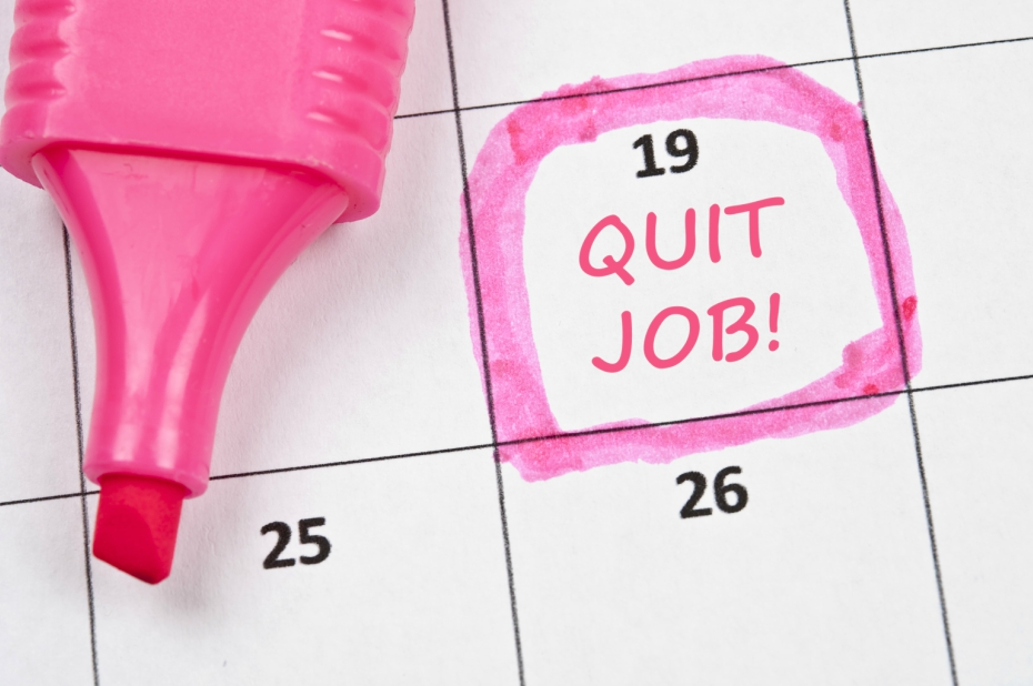 calendar marks the day someone quit their job