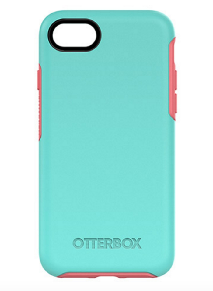 Blue OtterBox Symmetry Series iPhone 7 case