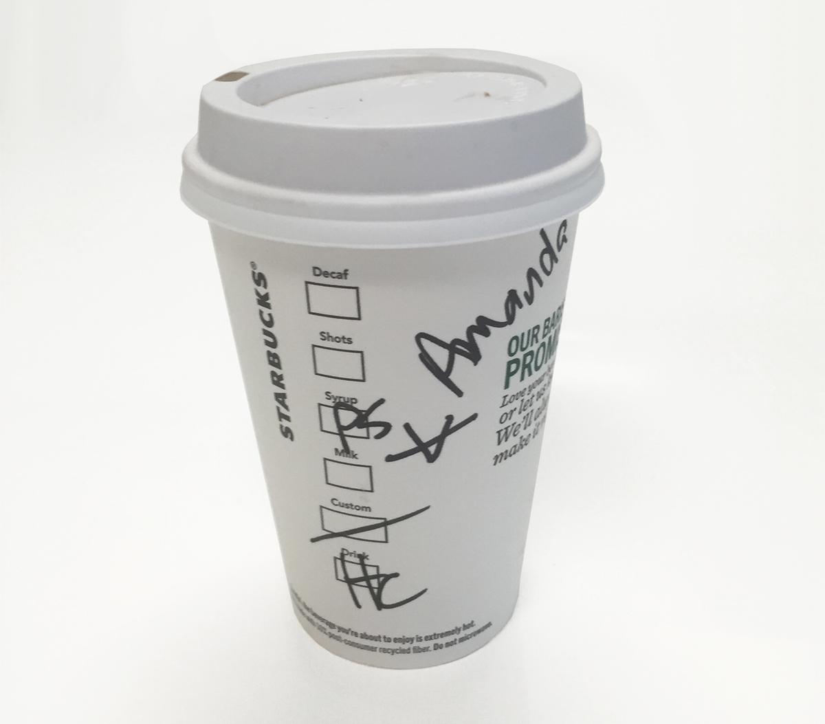 Starbucks pumpkin spice hot chocolate cup