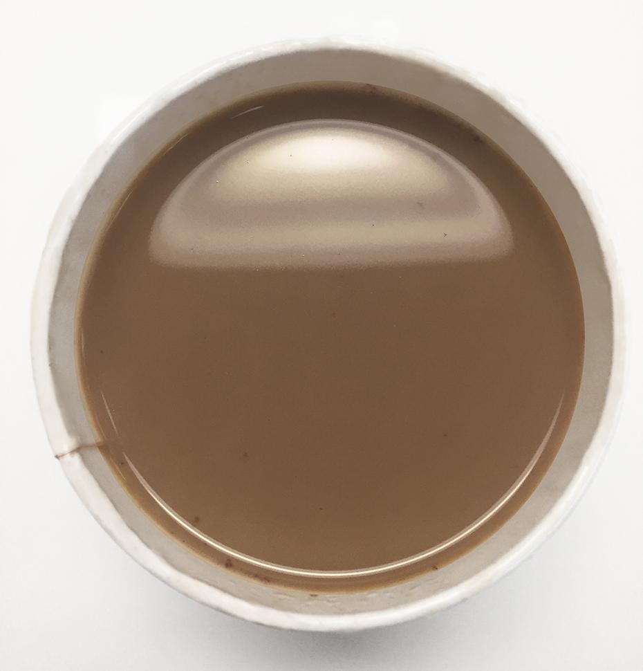 Top view of Starbucks pumpkin spice hot chocolate