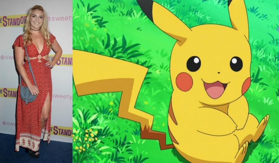 Rydel Lynch side by side with Pikachu Pokémon
