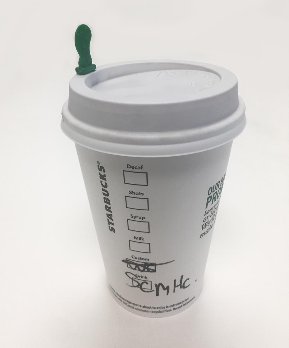 Starbucks salted caramel hot chocolate cup