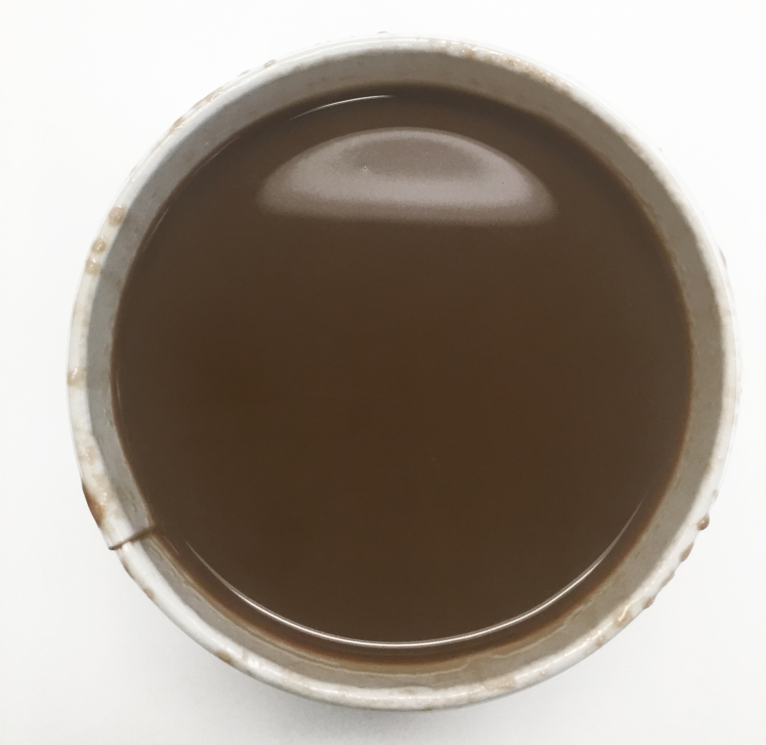 Top view of Starbucks salted caramel hot chocolate
