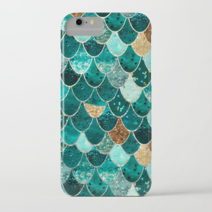 Mermaid scales case from Society6