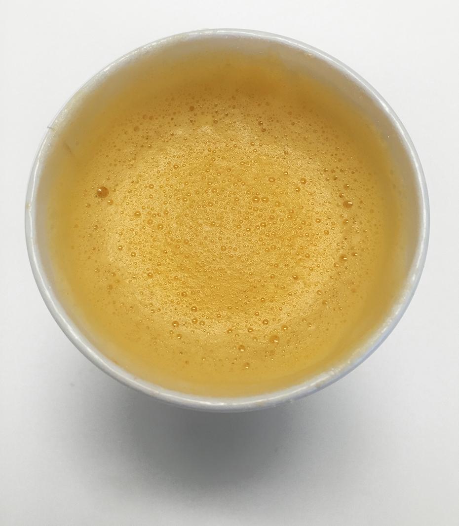 Top view of Starbucks pumpkin spice steamer
