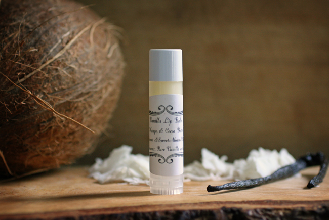 vanilla and coconut oil lip balm
