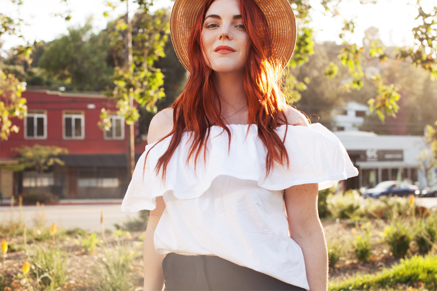 Allison McNamara outside wearing a hat