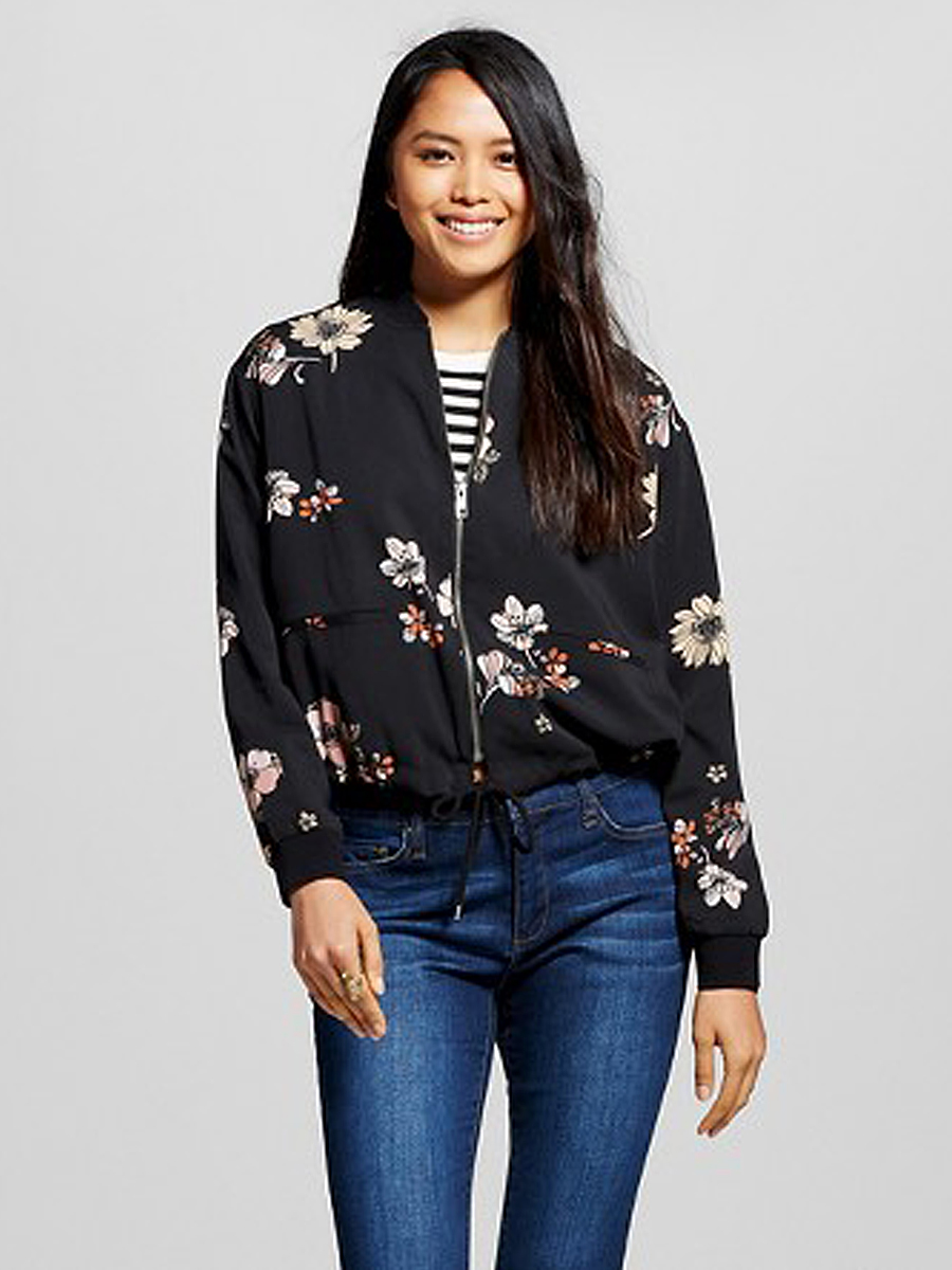 Leather jacket target - Who What Wear X Target Floral Bomber Jacket