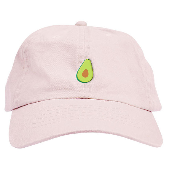 Pink avocado dad hat from Etsy