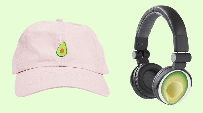 Avocado Hat and Headphones