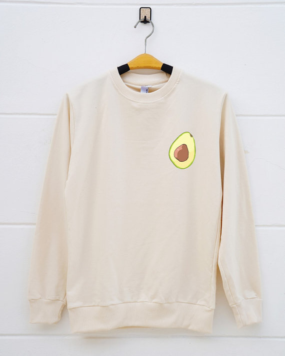 Avocado sweatshirt from Etsy