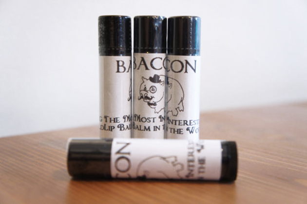Bacon flavored lip balm tubes