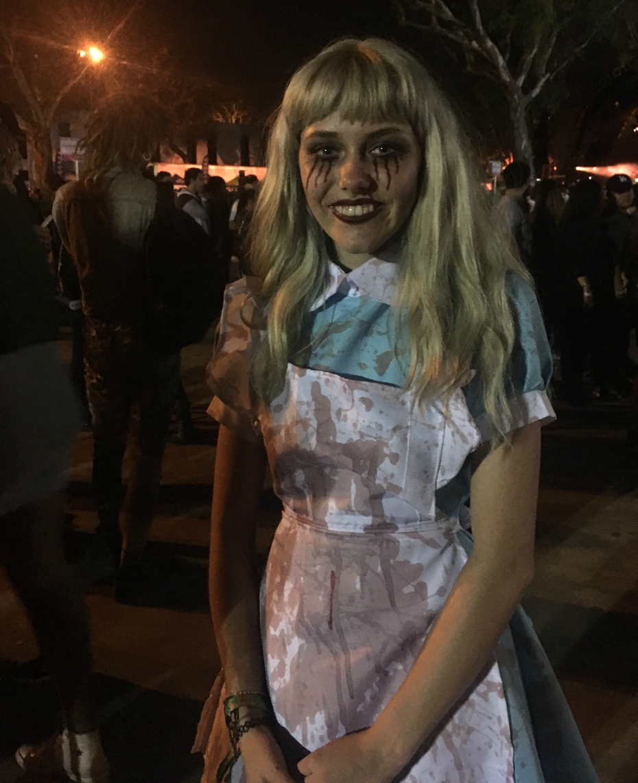 Dead Alice in Wonderland costume at Beach Goth Music Festival