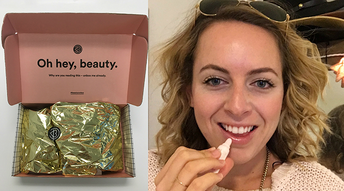 Brittney trying out Beautycon Box