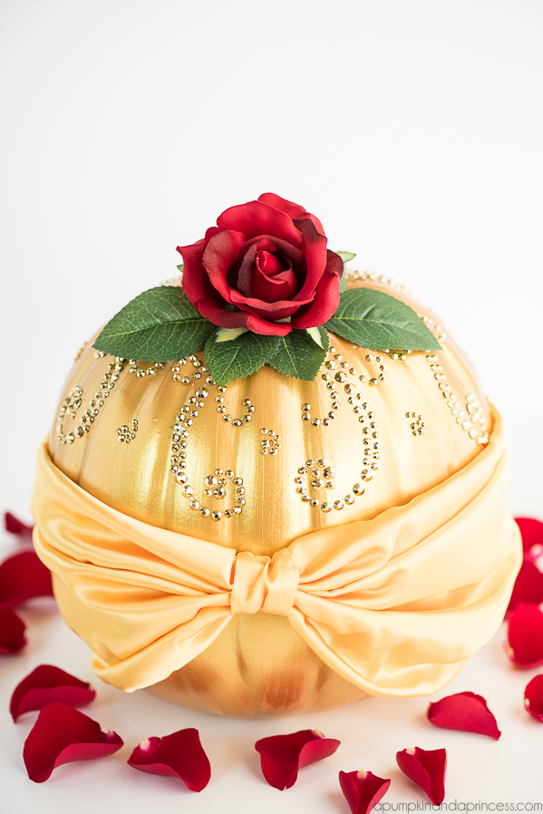 The cutest diy disney princess pumpkins for halloween belle inspired pumpkin solutioingenieria Images