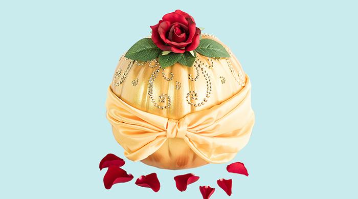 Belle-inspired pumpkin