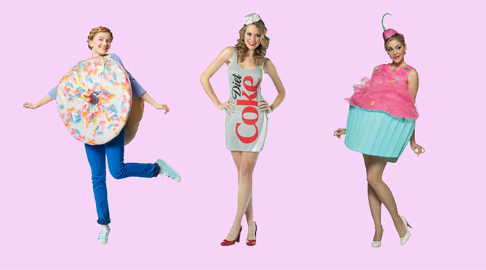 Donut, Diet Coke and cupcake Halloween costume
