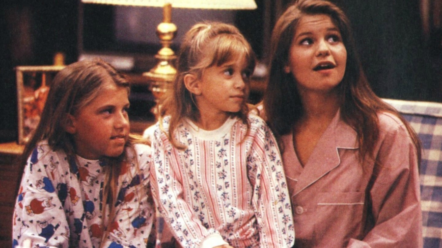 Still from Full House, all three Tanner sisters