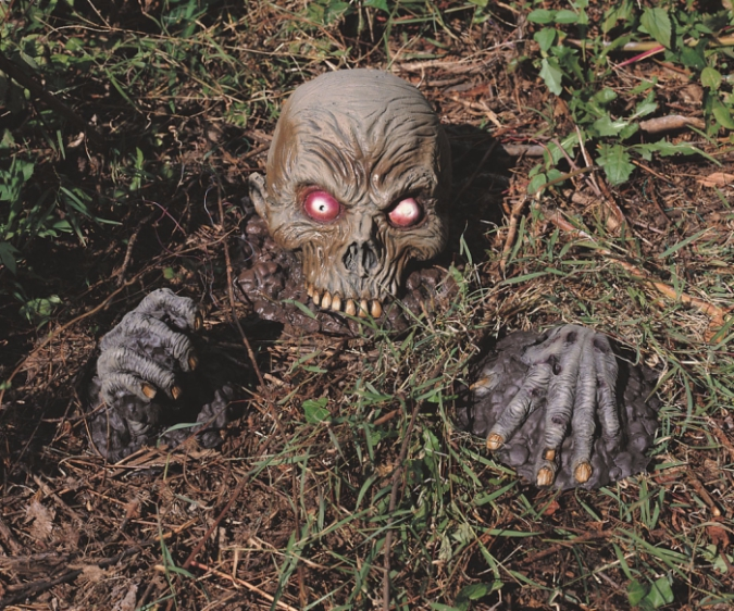 zombie halloween decoration coming out of ground - Zombie Halloween Decorations
