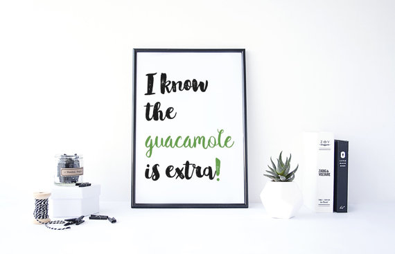 Guacamole print from Etsy