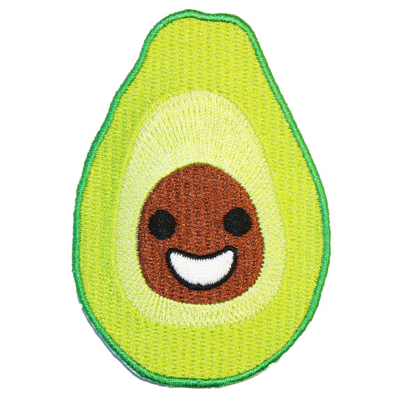 Avocado Iron-on Patch from Etsy