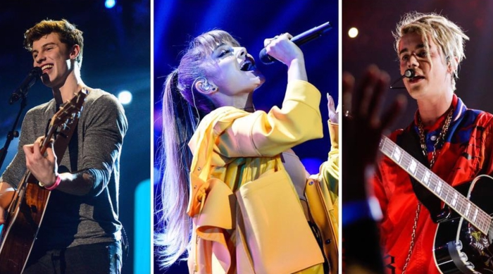 Shawn Mendes, Ariana Grande, Justin Bieber iHeartRadio Jingle Ball tour