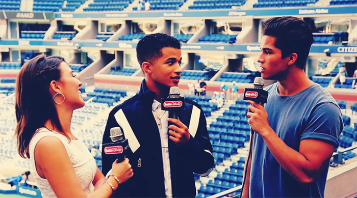 Jordan Fisher at Arthur Ashe Kids' day 2016