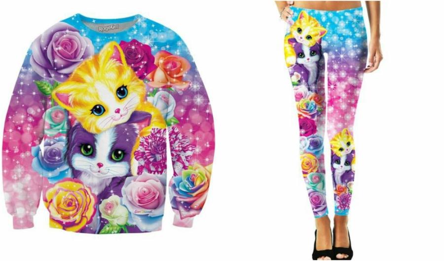Lisa Frank Kitten Roses outfit