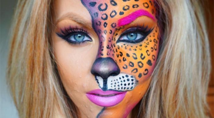 Lisa Frank-inspired makeup