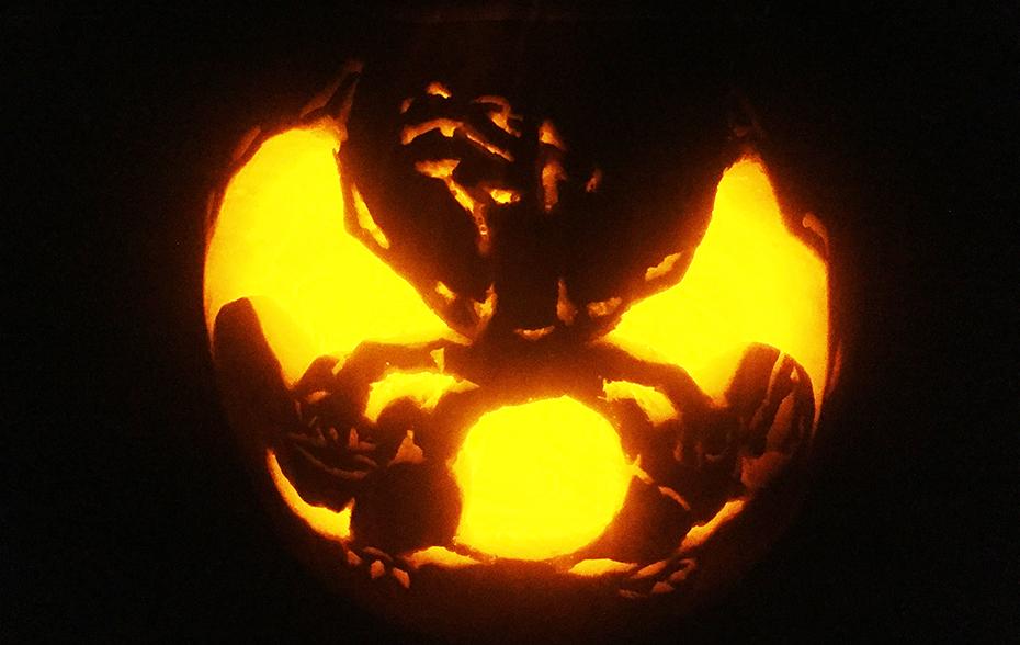 Pokémon Charizard pumpkin carving jack o' lantern