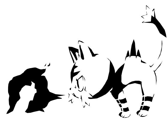 Litten Pokémon pumpkin carving stencil