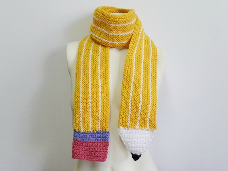 Creative Animal and Food-Themed Scarves From Etsy