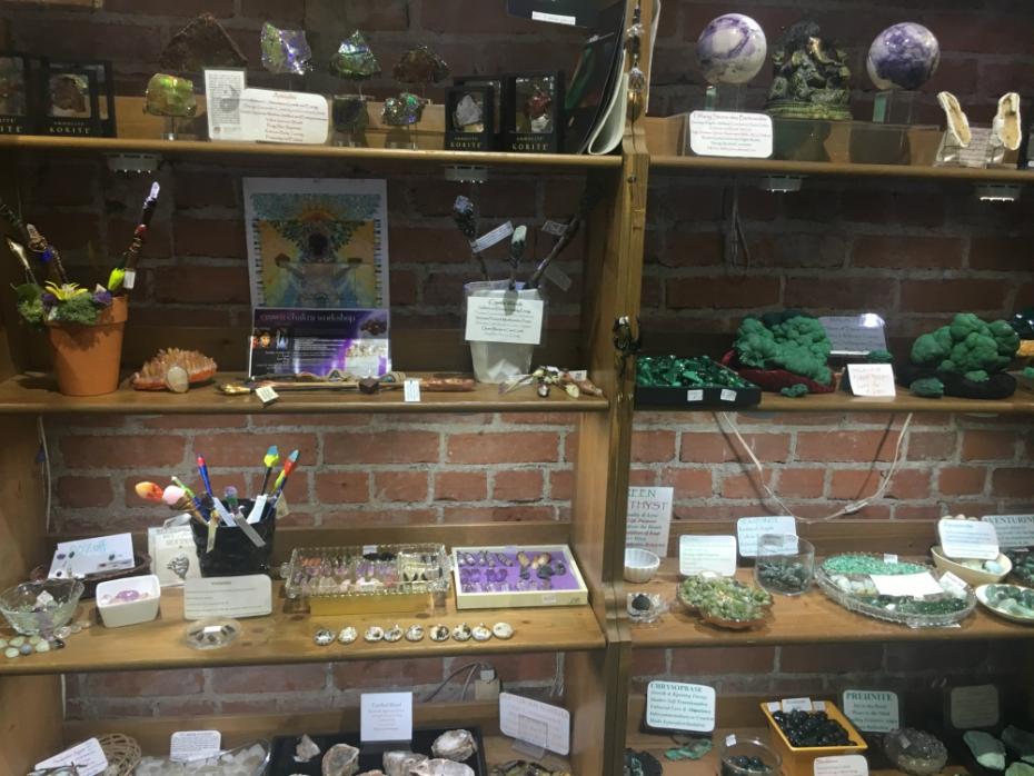 healing stones at Aura Shop in Santa Monica