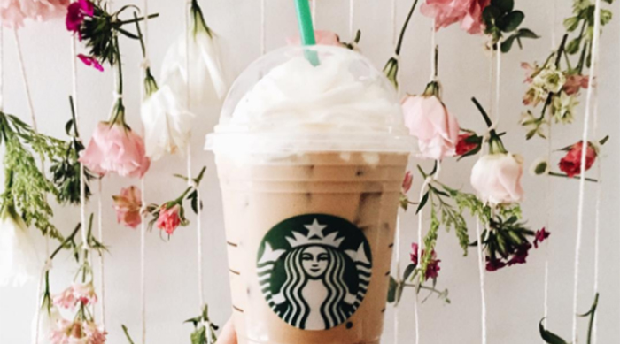 Starbucks iced white mocha