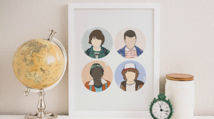 Stranger Things kids character print