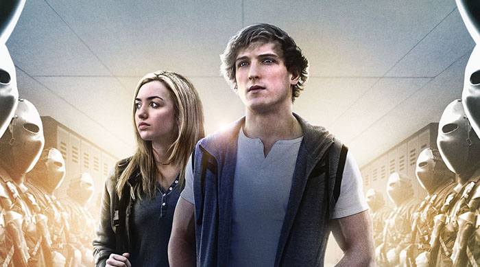 """""""The Thinning"""" movie poster with Logan Paul and Peyton List"""