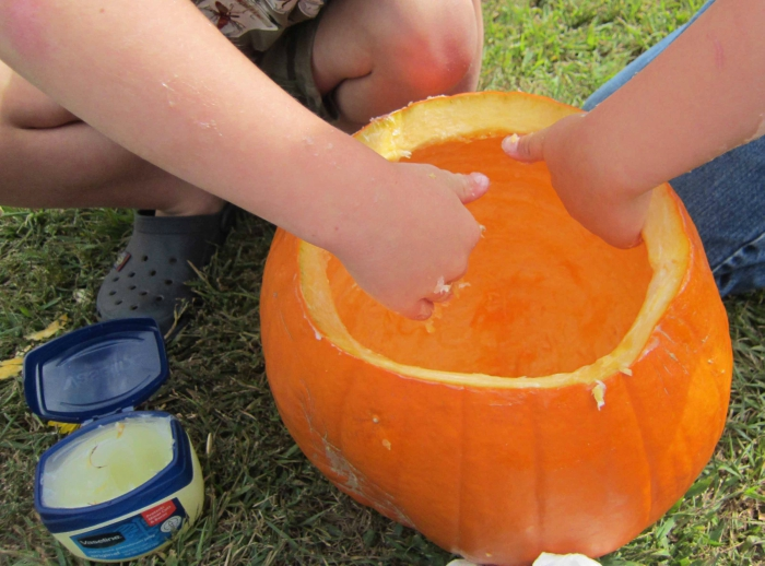 Vaseline on a pumpkin