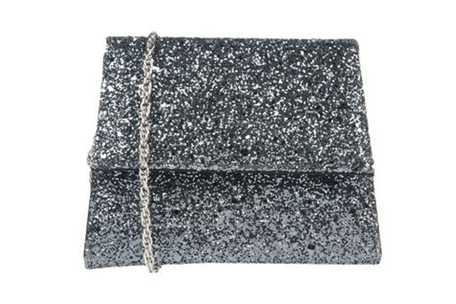 Antonella Romano gray glitter bag