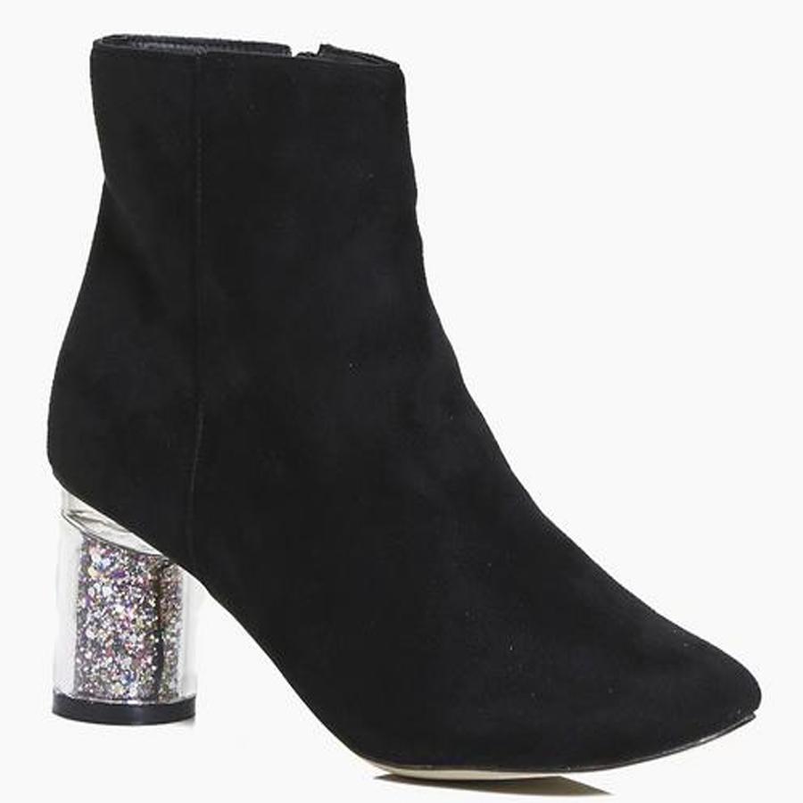 Boohoo.com sparkly glitter heels
