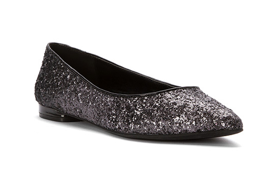 Nine West gray glitter ballet flats