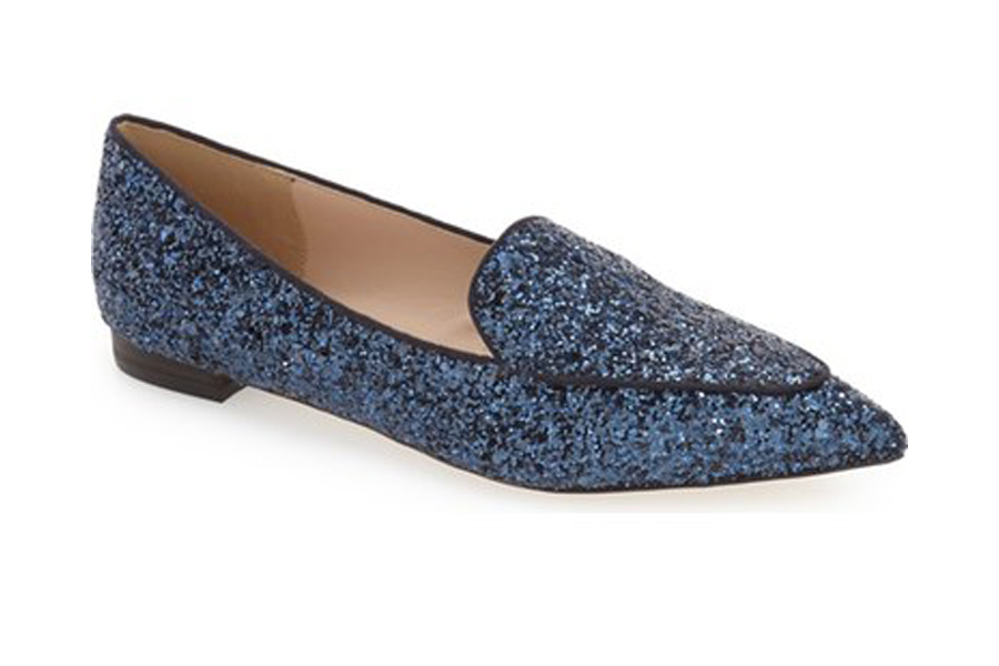 Sole Society blue glitter loafer